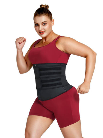 plus size latex waist trainer for women