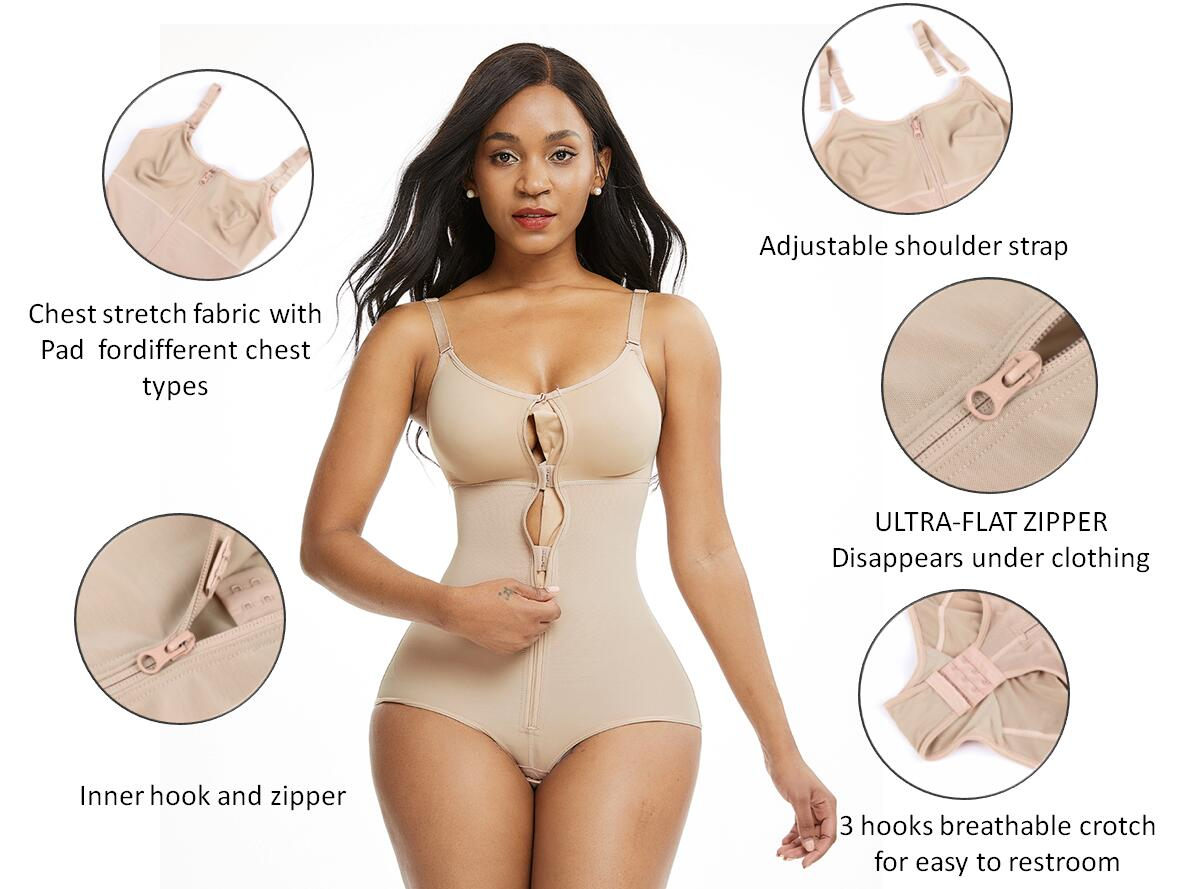 FeelinGirl Plus Size Body Shaper For Women Slimming Bodysuit
