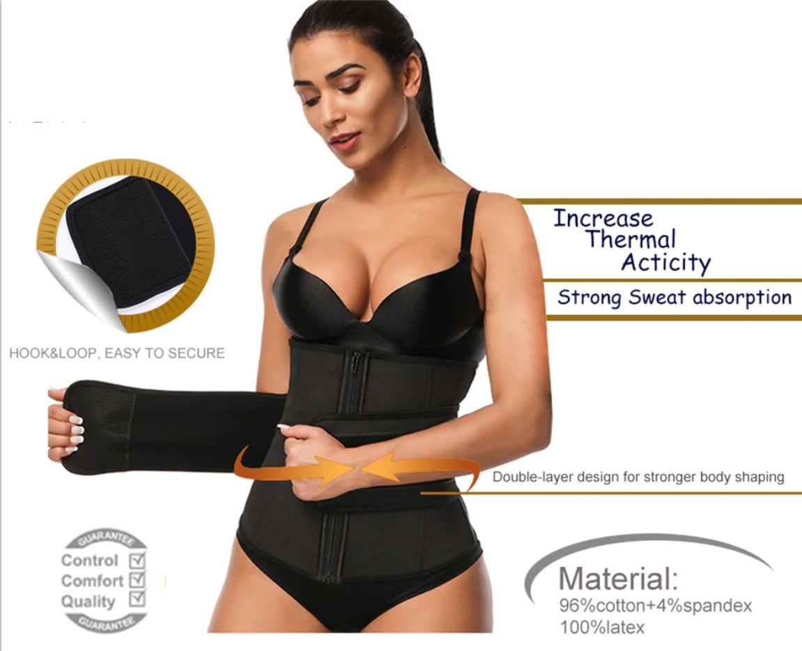 FeelinGirl Plus Size Waist Trainer With Zipper And Straps