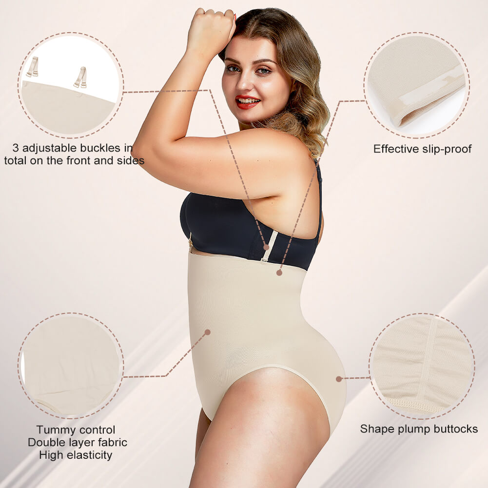 FeelinGirl Plus Szie High Waisted Tummy Control Underwear