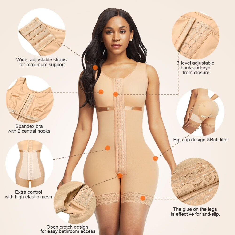FeelinGirl Post Surgical Compression Shapewear Full Body Shaper Undergarments