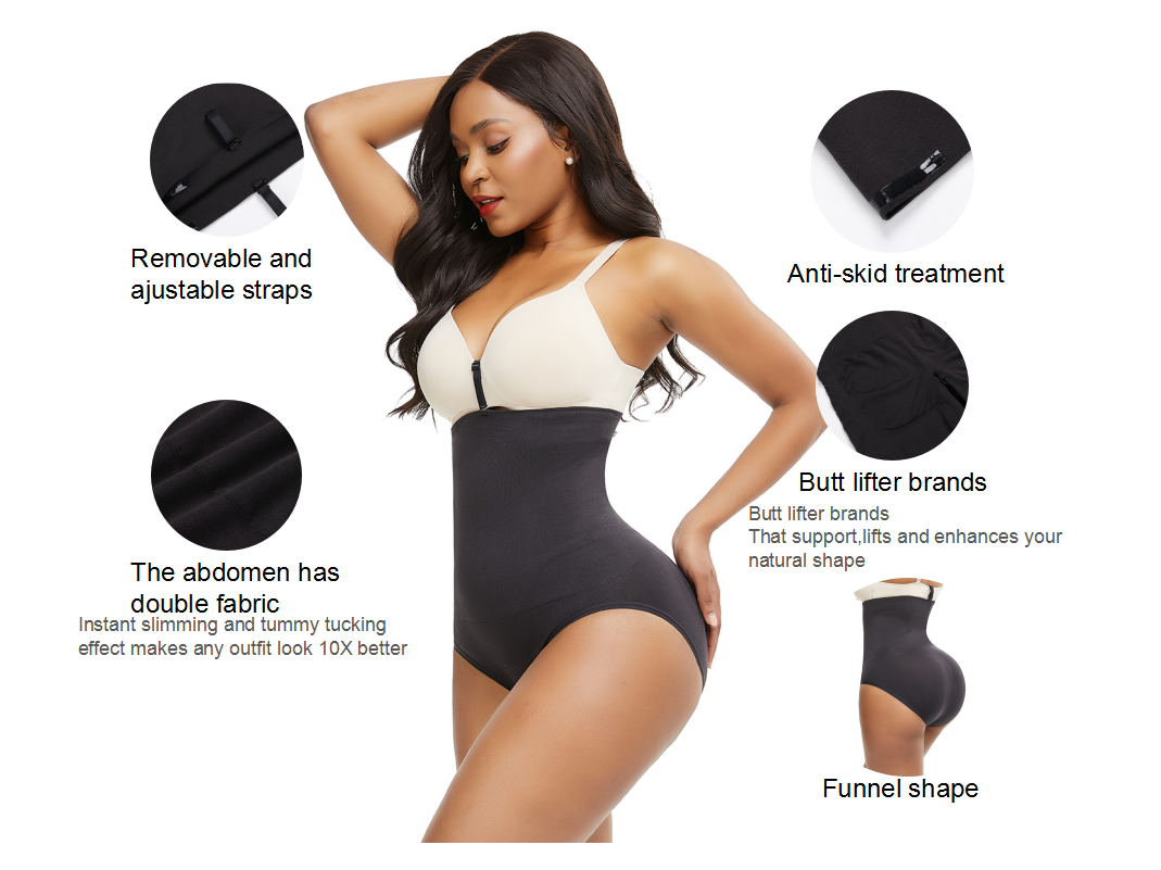 FeelinGirl Seamless High Waisted Tummy Control Panties Best Shapewear Under Dress