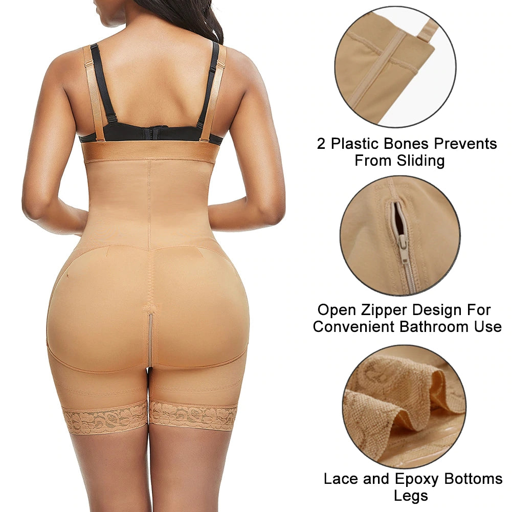 FeelinGirl Slimming Bodysuit Full Body Girdle Tummy Control Underwear
