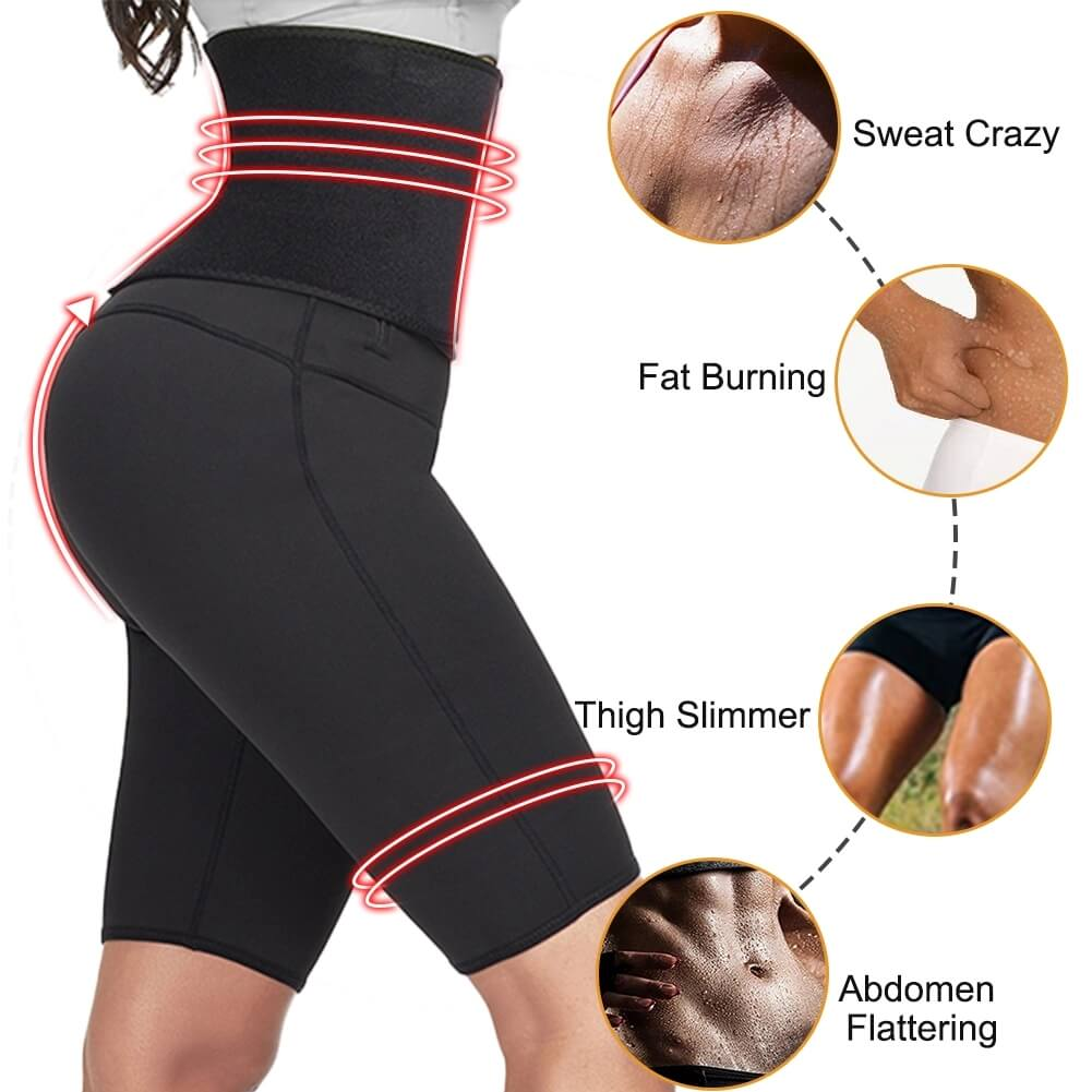FeelinGirl Women High Waist Tummy Control Neoprene Slimming Pants
