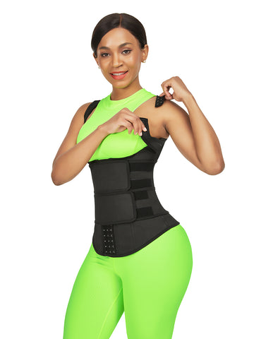 FeelinGirl Adjustable Waist Trainer Corset Vest for Weight Loss