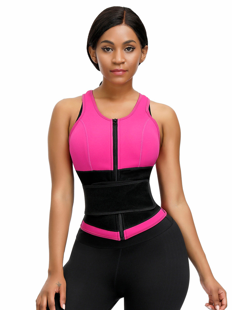 FEELINGIRL BEST NEOPRENE VEST FOR WEIGHT LOSS PLUS SIZE SHAPEWEAR WITH ZIPPER