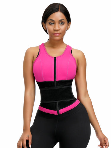 FeelinGirl Best Neoprene Vest For Weight Loss Plus Size Shapewear With Zipper - FeelinGirl