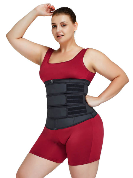 plus size steel bones waist trainer