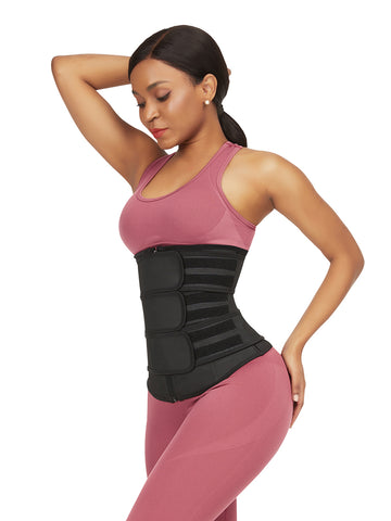 FeelinGirl Upgrade Womens Latex Waist Trainer with Three Belts