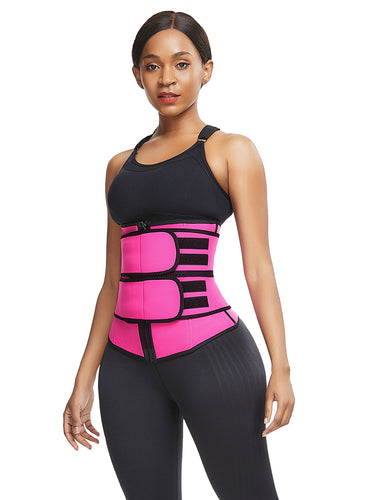 FeelinGirl Neoprene Waist Trainer With Zipper And Atraps Plus Size Shapewear - FeelinGirl