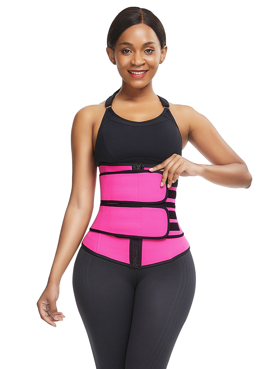 FEELINGIRL NEOPRENE WAIST TRAINER WITH ZIPPER AND ATRAPS PLUS SIZE SHAPEWEAR