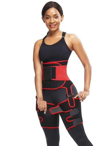 FeelinGirl Neoprene Waist Trimmer With High Waist Mid Thigh Shapewear For Tummy And Waist - FeelinGirl