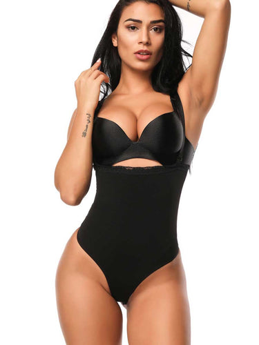 FeelinGirl Plus Size Slimming Bodysuits For Women Thong Shapewear - FeelinGirl