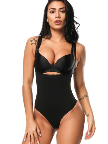 FeelinGirl Plus Size Slimming Bodysuits For Women Thong Shapewear