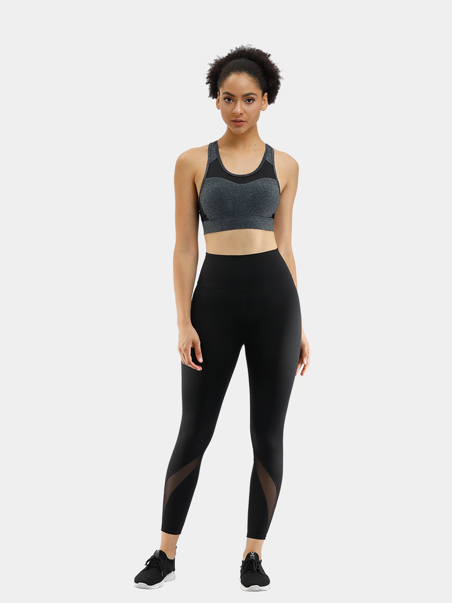 FeelinGirl Women's Black Mesh Fitness Leggings - FeelinGirl