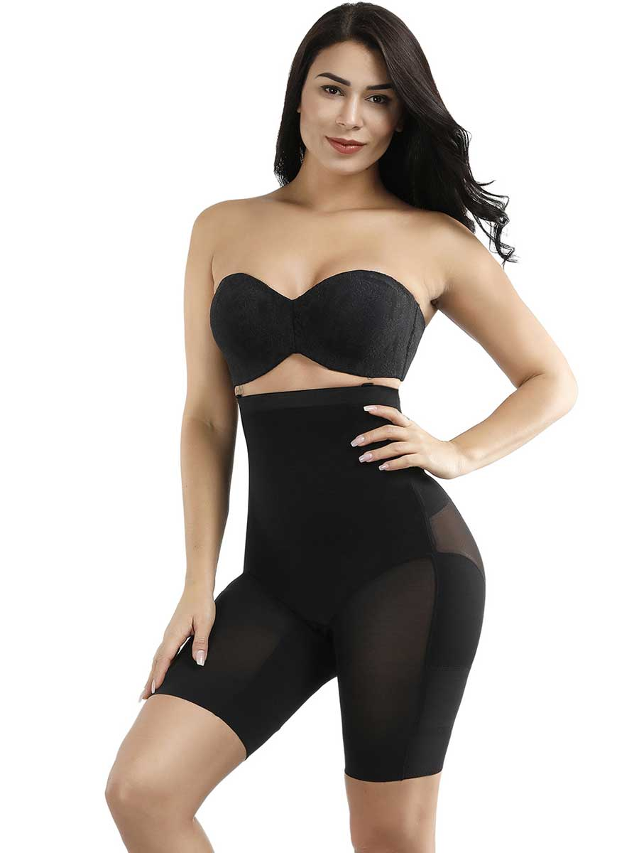 FeelinGirl X Panel Design High Waist Butt Enhancer Shaping Panty - FeelinGirl