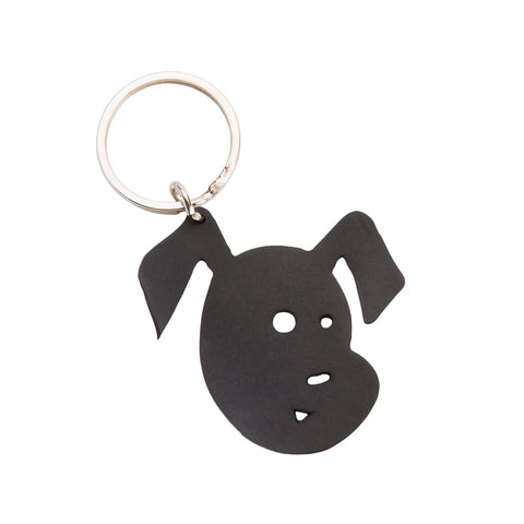 Bubba Recycled Rubber Dog Keyring
