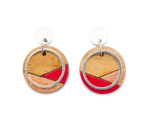 Conture Recycled Wood Sterling Silver Earrings