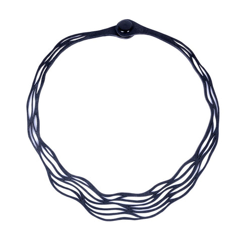 Flow Elegant Recycled Rubber Necklace