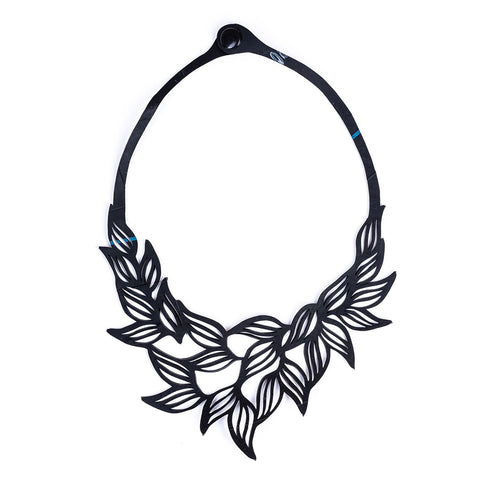 Jasmine Recycled Rubber Necklace