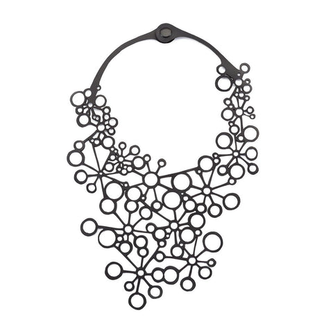 Octa Handcraft Black Statement Necklace
