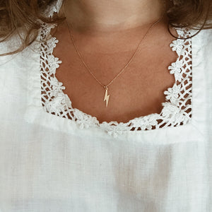Tiny Gold Lightening Necklace