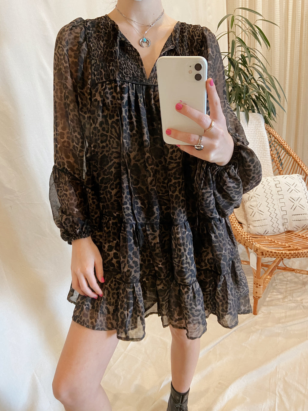 Black Leopard Jungle Dress