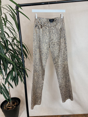 Guess Snakeskin printed pants