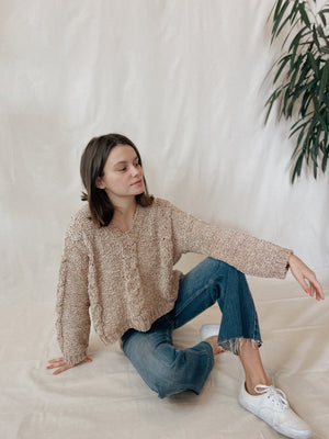 Lane Chenille Cable Knit Toast