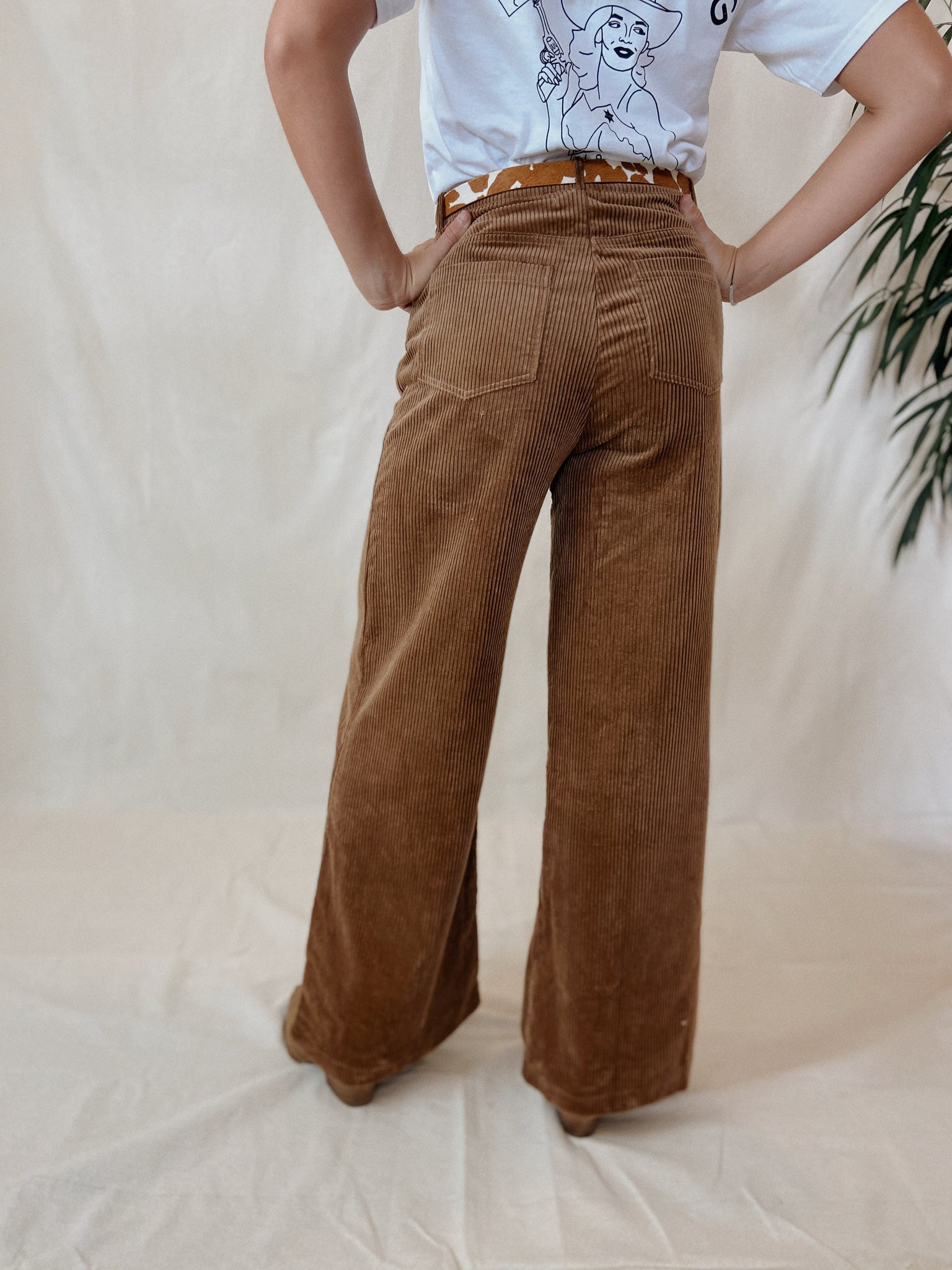 Flynn Wide Leg Cord Pants