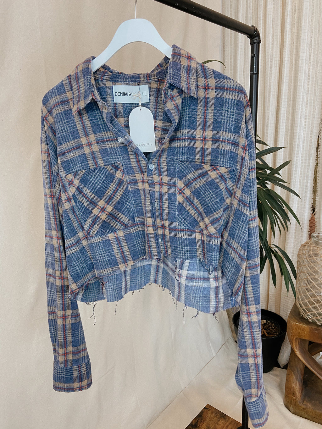 Vintage Flannel Blue + Brown