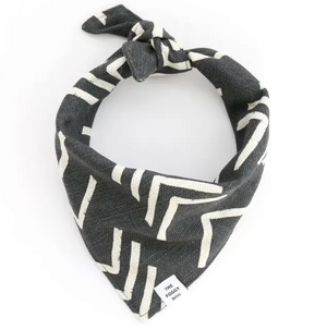 Modern Mud Cloth Black Dog Bandana