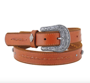 Western Embellished Brown Belt