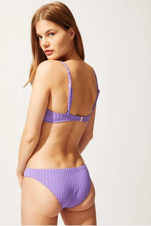 The Eva Top Violet Rib