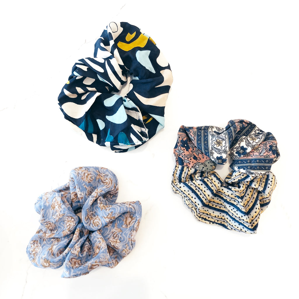 3 Upcycled Scrunchies