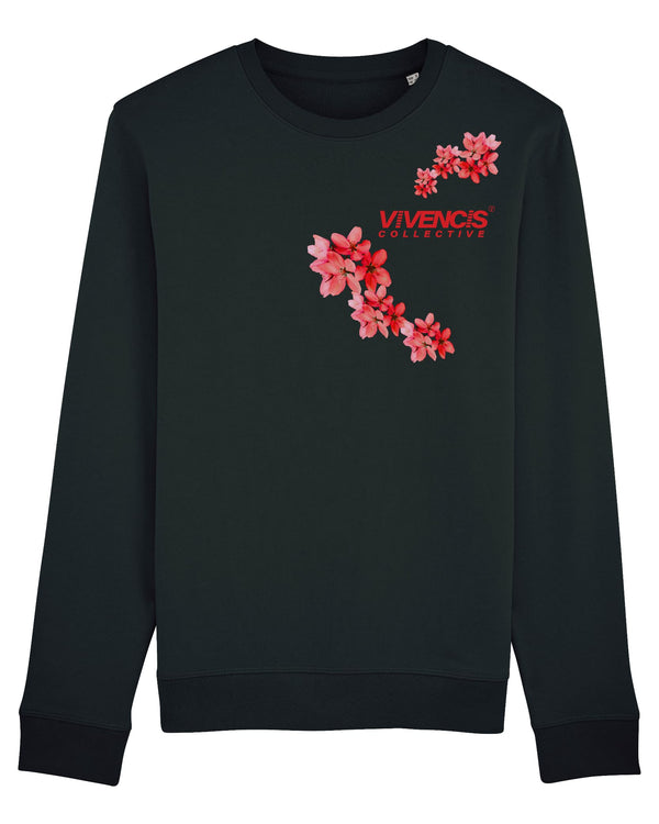Red Patterns Sweatshirt - Black
