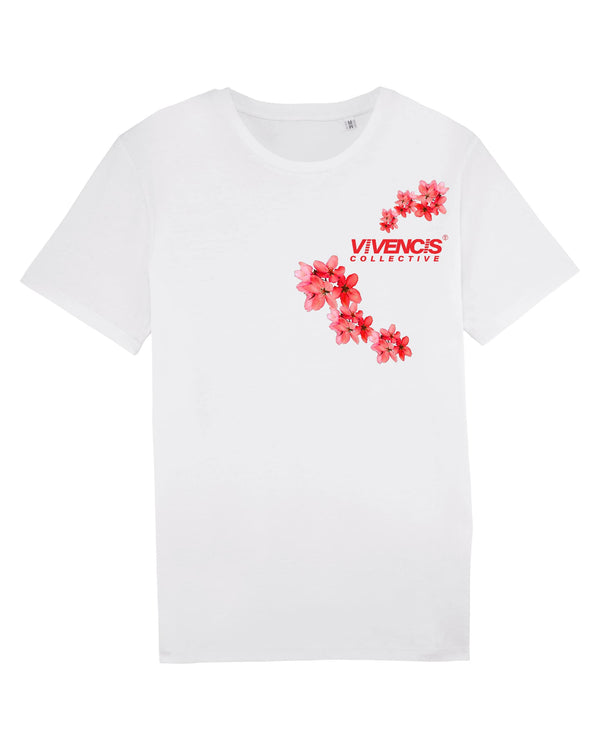 Red Patterns T-Shirt - White
