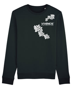 White Patterns Sweatshirt - Black