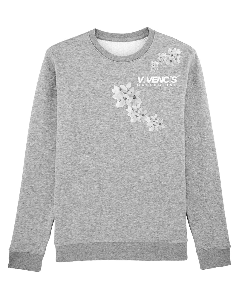 White Patterns Sweatshirt - Grey