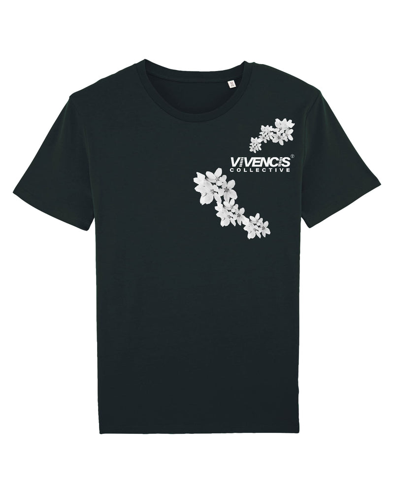 White Patterns T-Shirt - Black