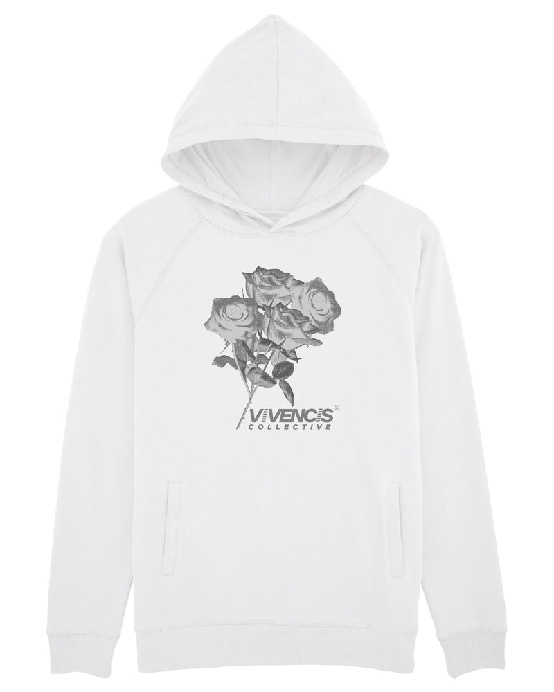Grey Eternal Hoodie - White
