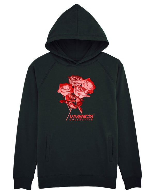 Red Eternal Hoodie - Black