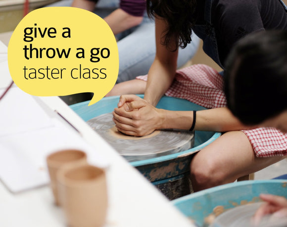 Clay Club! Give a throw a go - Wheel throwing taster Class - Saturday 12 October, 1:30-3:00pm