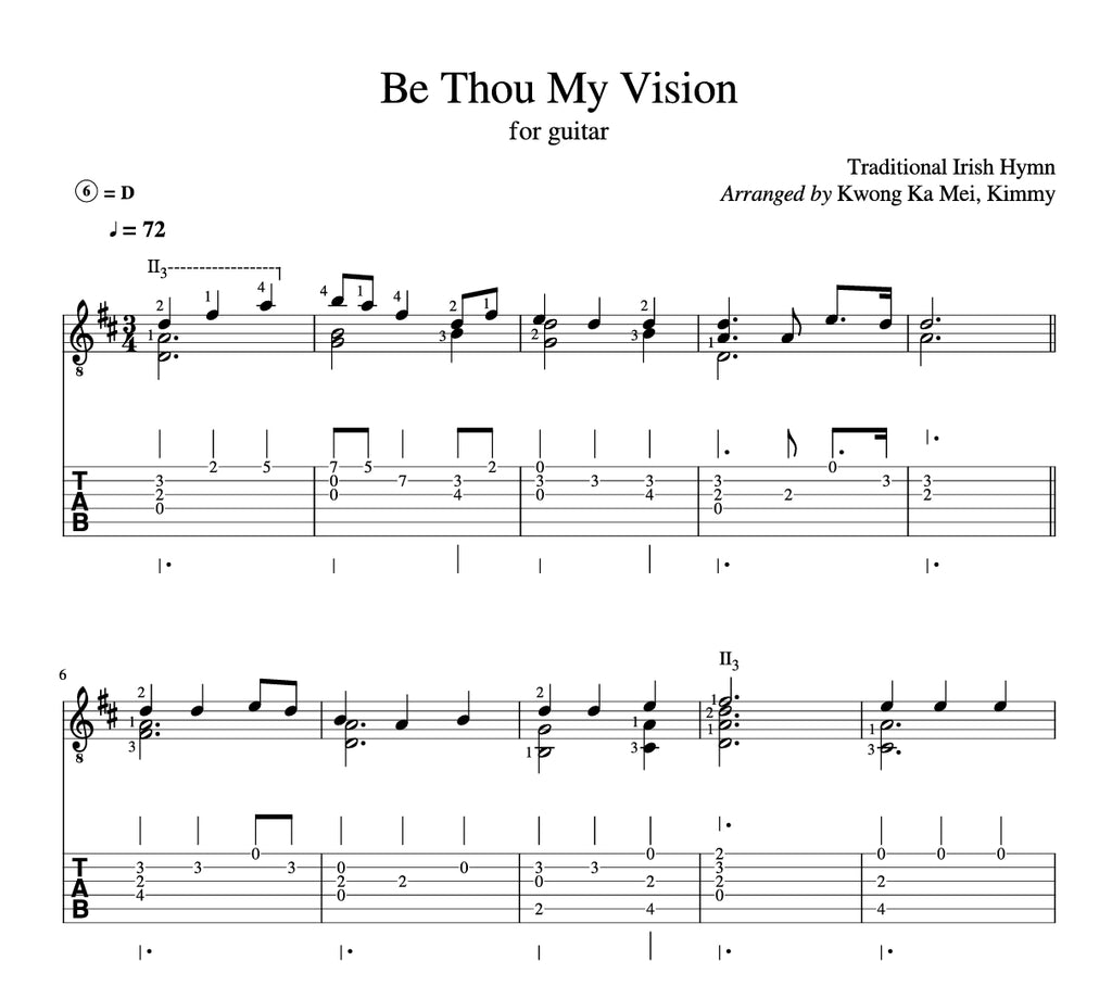 [Sheet+Tab] Be Thou My Vision (Hymn)