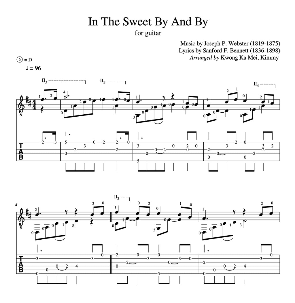 [Sheet+Tab] In The Sweet By And By (Hymn)