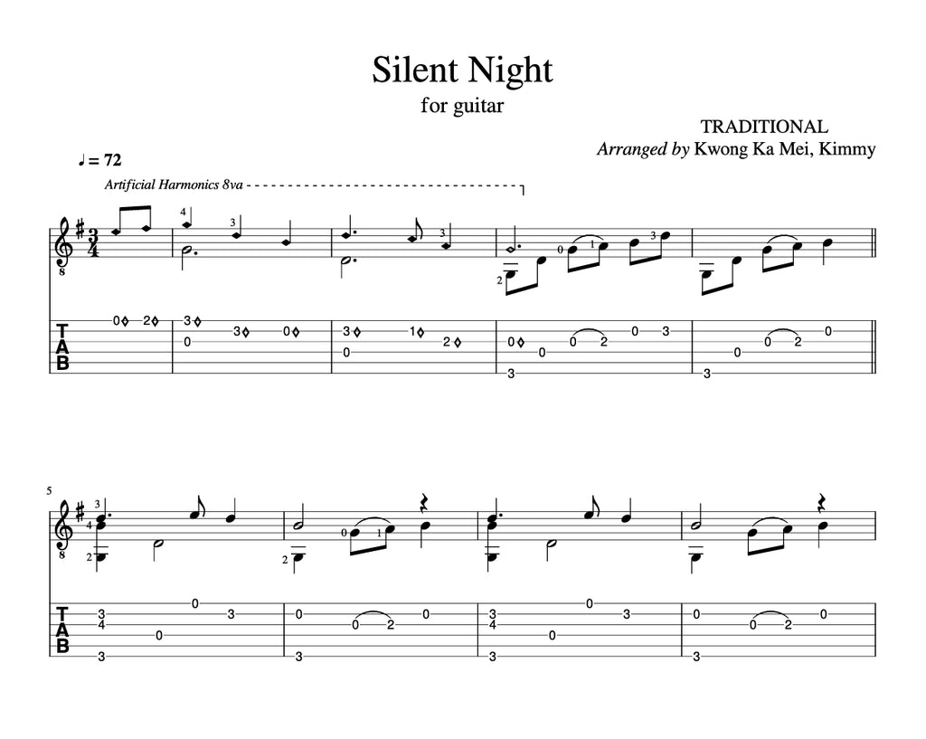 [Sheet+Tab] Silent Night