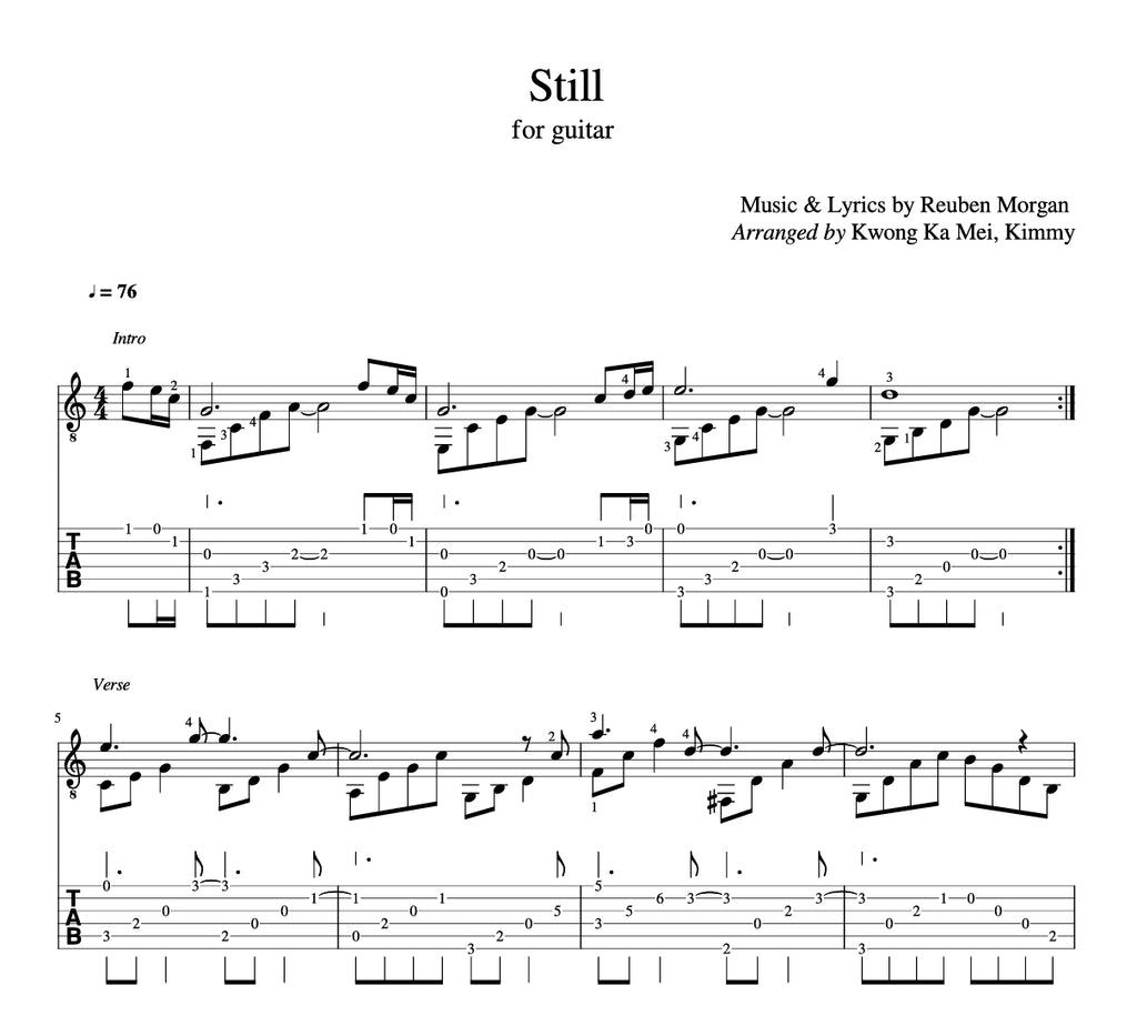 [Sheet+Tab] Still (Hillsong Worship)