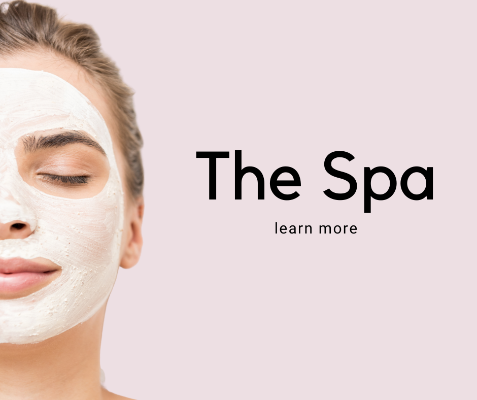 Learn more about the beauty bar by Kristina Ruggerio's spa services. A woman seen relaxing with a face mask on.