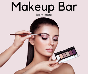 Learn more about the beauty bar by Kristina Ruggerio's makeup services. We have some of the best makeup artists in Delaware. An MUA is seen putting on eyeshadow for a client.