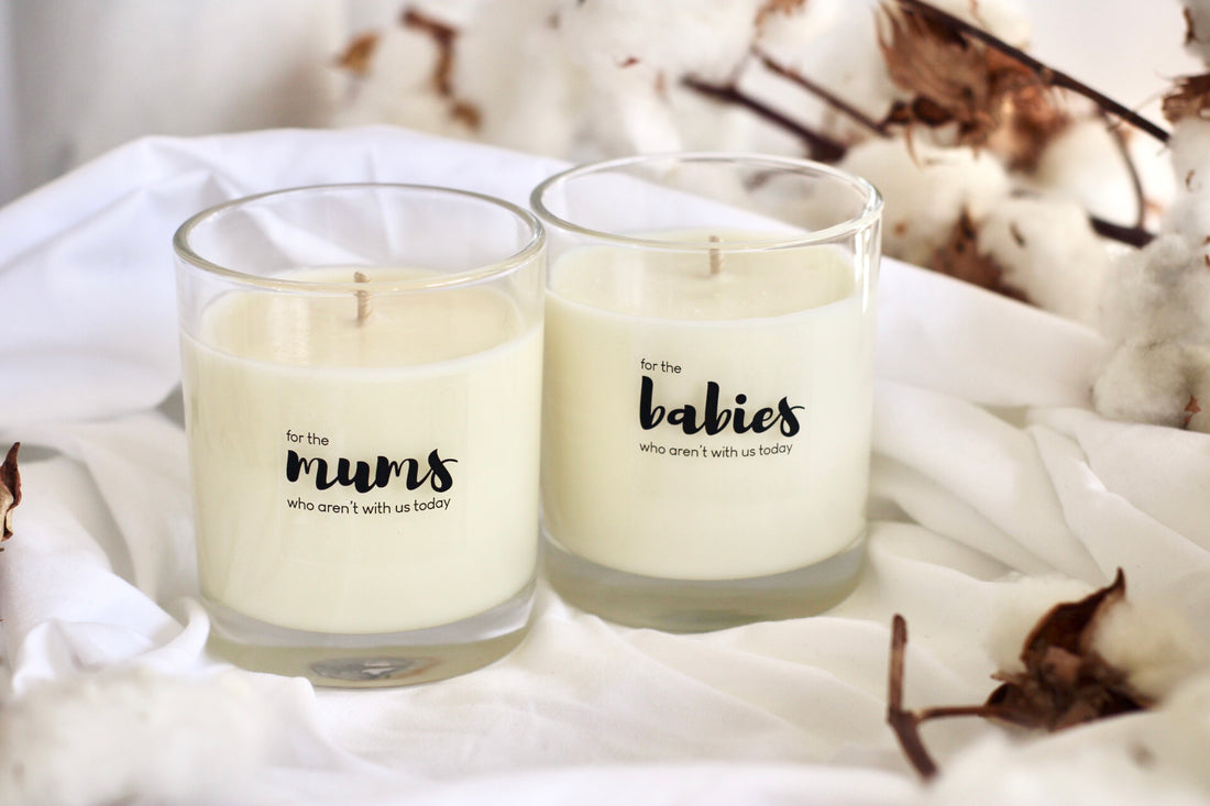 Memorial candle for mums and babies this Mother's Day